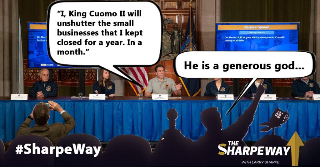 A meme of Governor Cuomo's press conference.